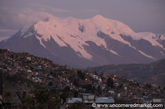 Dusk Over La Paz, Bolivia (uncorneredmarket) Tags: sunset mountain dusk bolivia lapaz dpn mountillamani