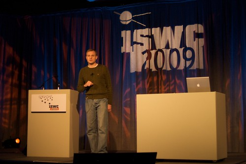 Jesse presents at the 2009 Billion Triples Challenge
