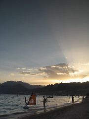 Sunset over Dahab, Egypt