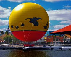 Downtown Disney Color (hz536n/George Thomas) Tags: red sky fall yellow october florida balloon disney disneyworld 2009 smrgsbord cs3 canonsd700is hz536n