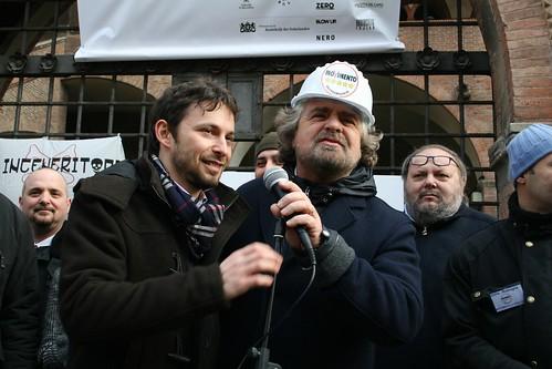 Giovanni Favia e Beppe Grillo