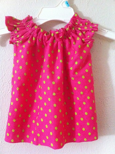 Peasant Blouse with a ruffled neckline: Day 2 of Kids Clothes Week by Sew Responsible