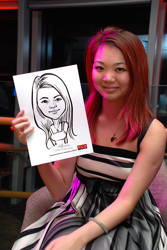 Caricature live sketching for TLC - 35