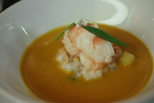 Santa Barbara Prawns, Thai Curry, Spring Pea