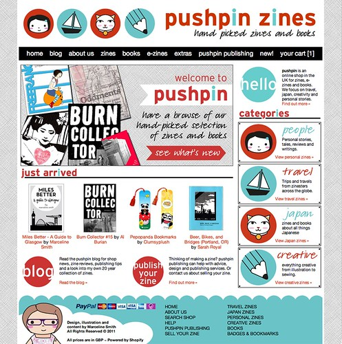 pushpin zine distro