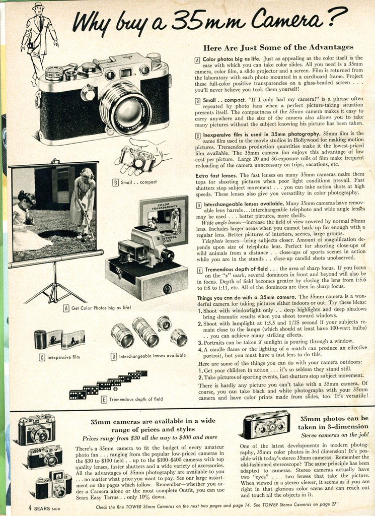 1958 Sears: Why buy a 35mm Camera?