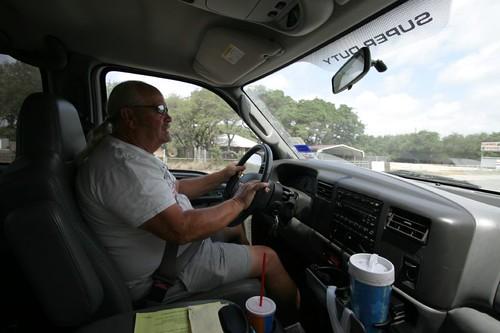 David in the truck...