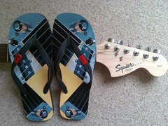 Fender now makes guitars... and flip flops! by markhillary