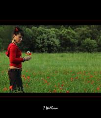 Miss Poppy (Tibo Willson) Tags: street original light red portrait people woman art film nature fleur outside rouge nice model sweet expression femme midnight poppy beau tte coquelicot artistique wonderfulworld theworldwelivein itsnotaboutyou worldbest platinumphoto flickraward phocal photodart flickrestrellas flickraward canoneos5dmark2