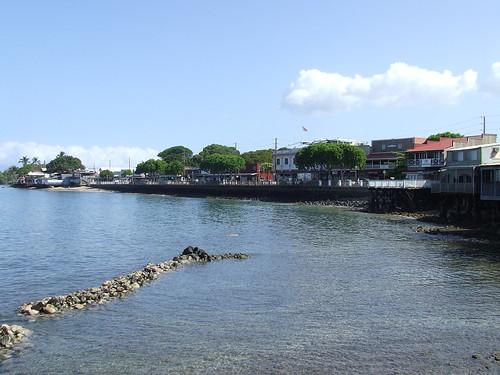 Lahaina Maui Town Side View