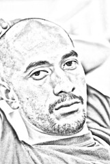Alpocot (DELLipo) Tags: portrait favorite photoshop sketch friend dell portraiture dslr capture finest digitalsketch d80 hdellr dellipo alpocot