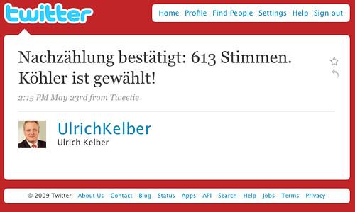 Twitter / Ulrich Kelber: Nachzählung bestätigt: 613 ...