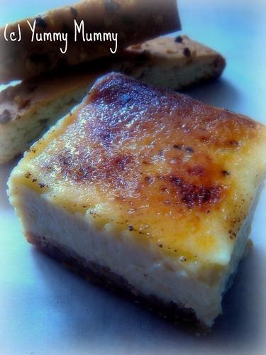 Bruleed Vin Santo Cheesecake