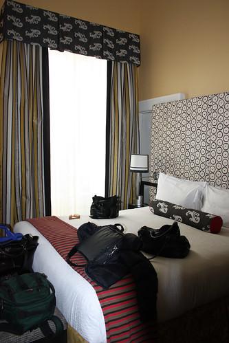 The Hotel Monaco bedroom