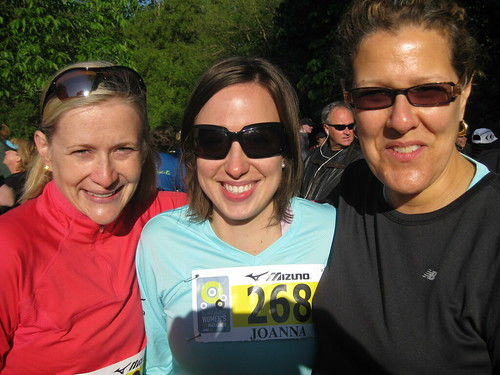 Sara Jones, Joanna Protasowski, Bev Moir at the Toronto Women's Half Marathon