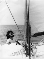 Your Fingers Through My Hair... (Kerfeu) Tags: ocean hair boat sail 1976