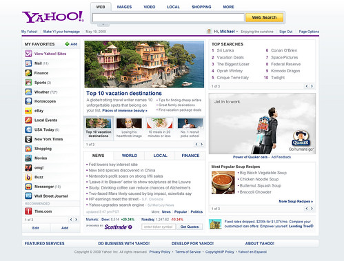Yahoo's New New Home Page