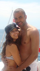 Tony Parker and Eva on the boat (market.america1) Tags: desperatehousewives sanantoniospurs evalongoria tonyparker