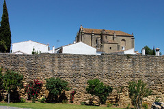 Ronda Old City Wall (cwgoodroe) Tags: summer costa white hot sol beach del bells spain ancient europe churches sunny bull bullfighter adobe ronda moors walls washed clothesline protective newbridge roda bullring stonebridge oldbridge spainish whitehilltown rondah spanishdoors