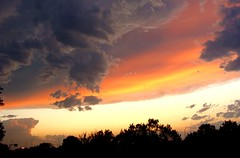 nature has its own paintbrush (spysgrandson) Tags: sunset sky clouds skies texas sony wichitafalls sonycybershot thunderheads 060709 spysgrandson