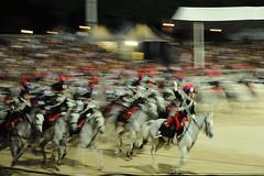 Carabinieri alla carica (bett@) Tags: roma nikon panning cavalli notturna carabinieri manifestazione d300 ippica equitazione piazzadisiena festadeicarabinieri carosellodeicarabinieri