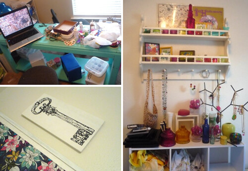 Messy parts of my craft room.