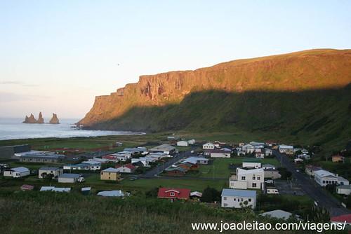 Aldeia de Vik na Islândia