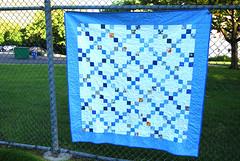 Blue Irish Chain Quilt