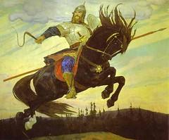 Vasnetsov, Victor (1848-1926) - 1914 Knightly Galloping (RasMarley) Tags: horse animal painter russian 20thcentury 1914 equestrian realism vasnetsov historicart victorvasnetsov knightlygalloping