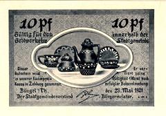 Burgel i. Thur., 10 pf, 1921 (Iliazd) Tags: notgeld germaninflationarycurrency emergencymoney germanpapermoney
