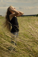 P. (hubaloo) Tags: field childhood hair wind sound barefoot p longhaired