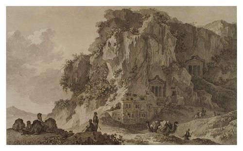 010- Vista de la montaña de las tumbas cerca de Telmissus-Voyage pittoresque de la Grèce 1782