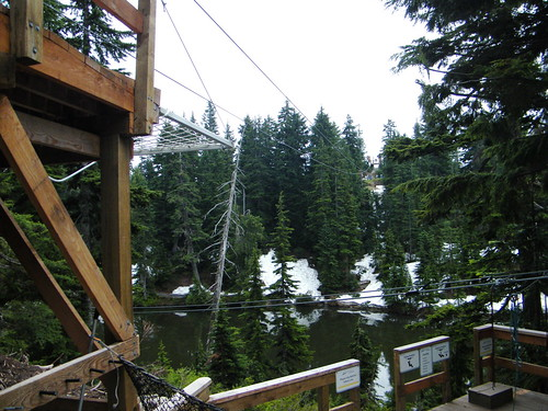 Ziplining on Grouse