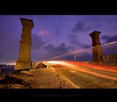 Miles to go..!! (harimenon4u) Tags: bridge light night speed evening slow kerala vehicles shutter cochin vypin eranakulam goshree