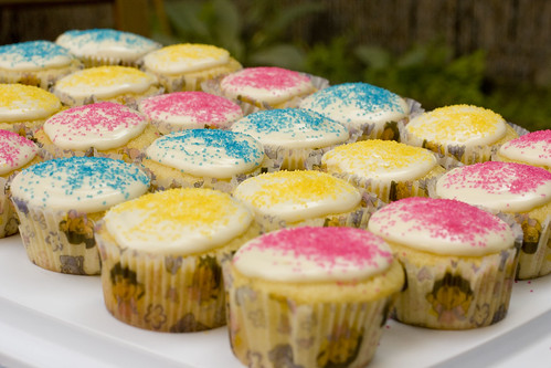 Lemon Lime Cupcakes with sprinkles