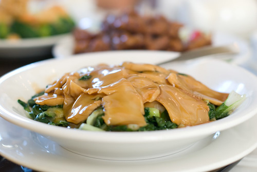 Braised Abalone with Chinese Greens