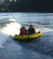 Haley and Julia (jennibergirl) Tags: summer river boat tina haley