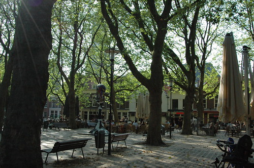 A sunny square