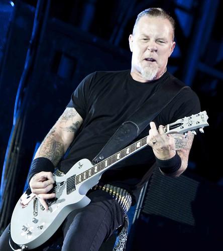 Metallica James Hetfield Guitar. James Hetfield van Metallica