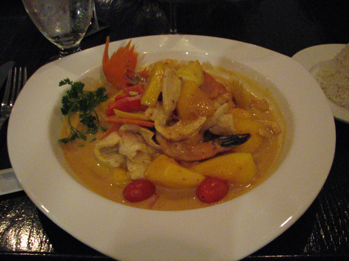 peppermint thai ~ mango curry
