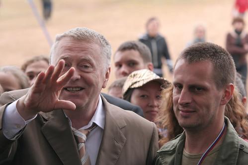 Селигер-2009. Владимир Жириновский иИгорь Степанов