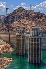 Hoover Dam Towers in HDR (timaz (TimClarkeHDR.com)) Tags: bridge arizona canon construction dam az hoover hdr 50d qtpfsgui