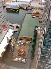 Canary Wharf Crossrail work