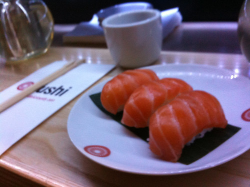 Salmon Sushi at Yushi