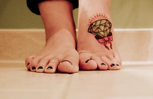 15/365 diamonds on my foot. diamond foot.