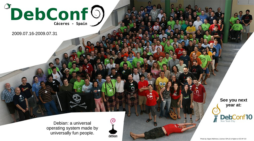 DebConf9 group photo