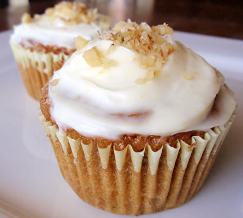 Healthier Carrot Cupcakes