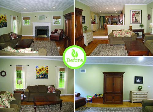 Before Redesign: Jennifer\'s Living Room