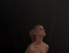 (Alexandra Hawley) Tags: portrait woman selfportrait girl lady digital self hair nude this is waiting allie skin body quality bad young iso 1600 desperate elf short blonde shoulders grainy leaning such noisy longing anything hawley clavicles