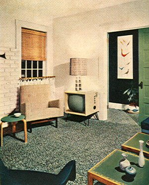 1950\'s Atomic Ranch House: More 1950\'s Atomic Mid-Century Interior ...